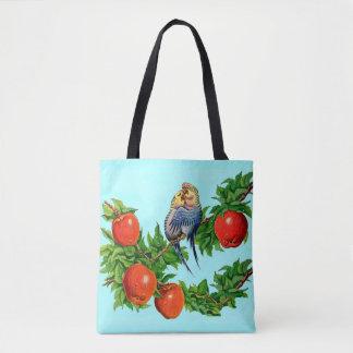 parakeets in love tote bag