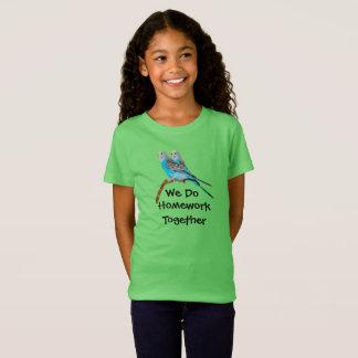 Parakeets:  We Do Homework Together T-Shirt