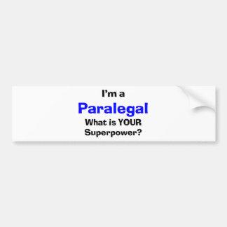 paralegal bumper sticker