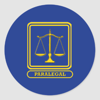 Paralegal Classic Round Sticker