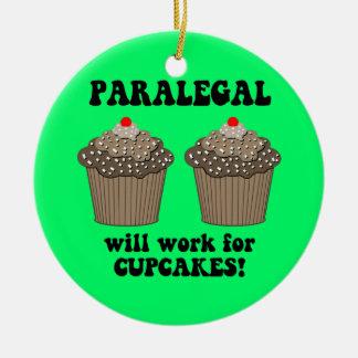 paralegal round ceramic ornament