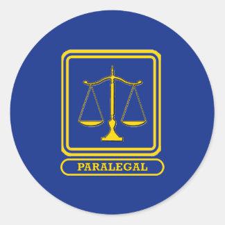 Paralegal Round Sticker