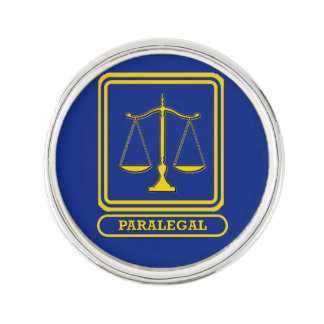 Paralegal Scales of Justice Lapel Pin