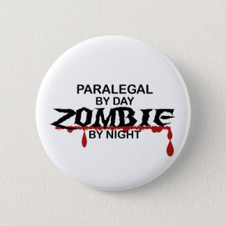 Paralegal Zombie 2 Inch Round Button