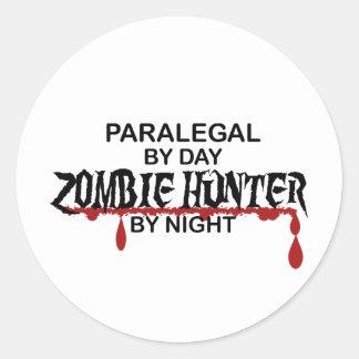 Paralegal Zombie Hunter Round Sticker