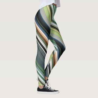 Parallel Colorful Lines Leggings