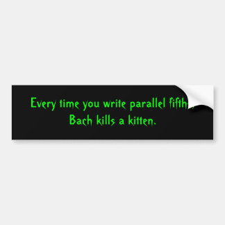 Parallel Fifths Bumper Sticker