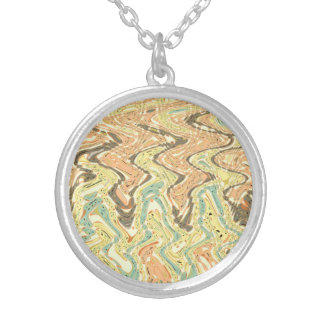 Parallel paths silver plated necklace