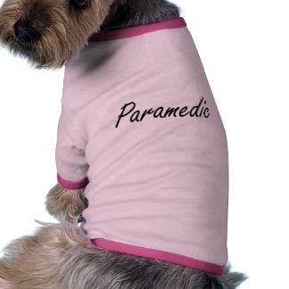 Paramedic Artistic Job Design Pet Tee Shirt
