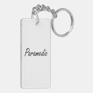 Paramedic Artistic Job Design Double-Sided Rectangular Acrylic Keychain