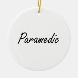 Paramedic Artistic Job Design Double-Sided Ceramic Round Christmas Ornament