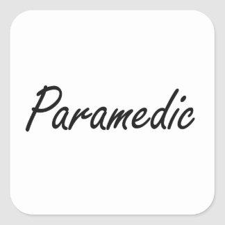 Paramedic Artistic Job Design Square Sticker