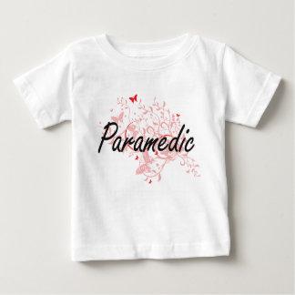 Paramedic Artistic Job Design with Butterflies Baby T-Shirt