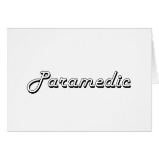 Paramedic Classic Job Design Stationery Note Card