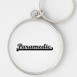 Paramedic Classic Job Design Silver-Colored Round Keychain