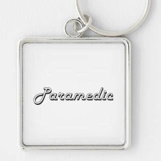 Paramedic Classic Job Design Silver-Colored Square Keychain