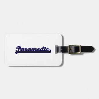 Paramedic Classic Job Design Luggage Tag