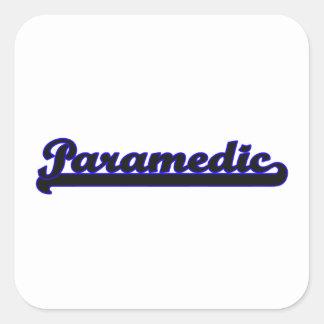 Paramedic Classic Job Design Square Sticker