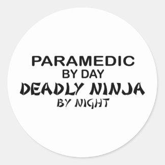 Paramedic Deadly Ninja by Night Round Sticker