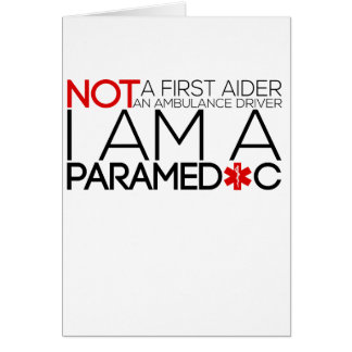 paramedic design cute card
