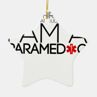 paramedic design cute ceramic ornament