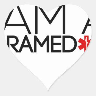 paramedic design cute heart sticker