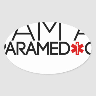 paramedic design cute oval sticker