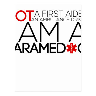 paramedic design cute postcard