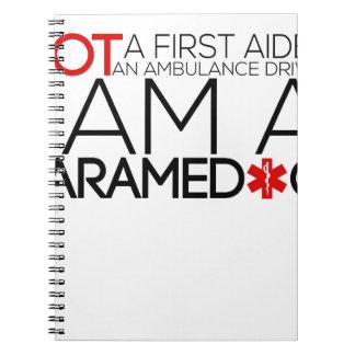 paramedic design cute spiral notebook