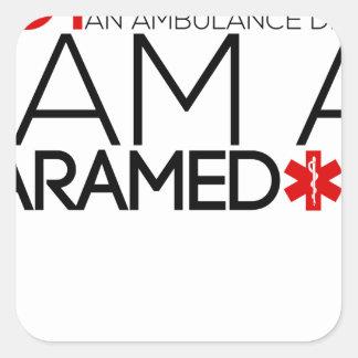 paramedic design cute square sticker