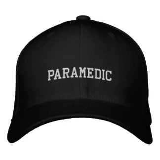 PARAMEDIC EMBROIDERED BASEBALL CAP