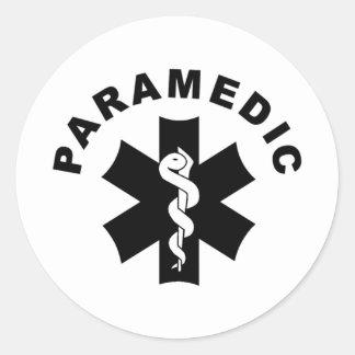 Paramedic EMS Rescue Logo Round Sticker