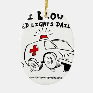 paramedic emt ceramic oval ornament