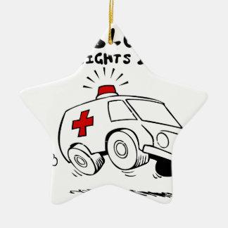 paramedic emt ceramic star ornament