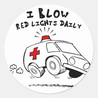 paramedic emt classic round sticker