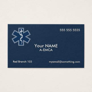 Paramedic EMT EMS Dark Business Card