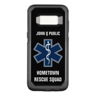 Paramedic EMT EMS Name template OtterBox Commuter Samsung Galaxy S8 Case