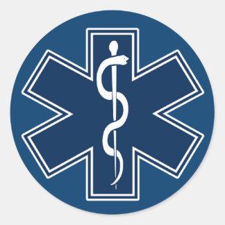 Paramedic EMT EMS Round Sticker