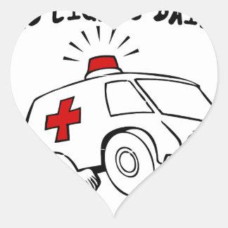 paramedic emt heart sticker