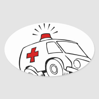 paramedic emt oval sticker