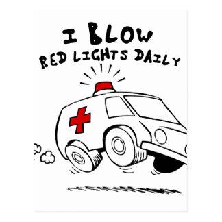 paramedic emt postcard