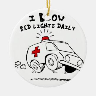 paramedic emt round ceramic ornament