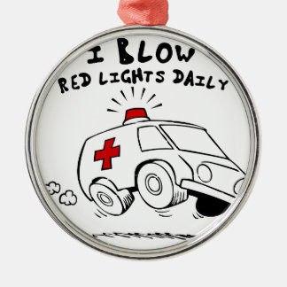 paramedic emt Silver-Colored round ornament