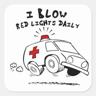paramedic emt square sticker