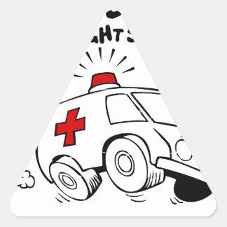 paramedic emt triangle sticker