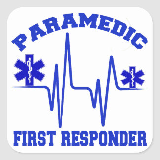 Paramedic First Responder Square Sticker