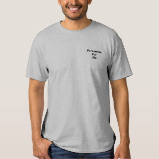 Paramedic For Life Pocket T Tee Shirts
