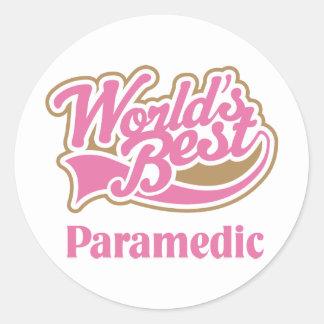 Paramedic Gift Round Stickers