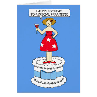 Paramedic happy birthday. card