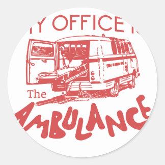 paramedic office classic round sticker